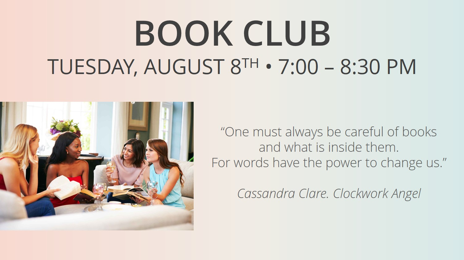Are You Interested In Sharpening Your Saw And Joining Our Book Club?