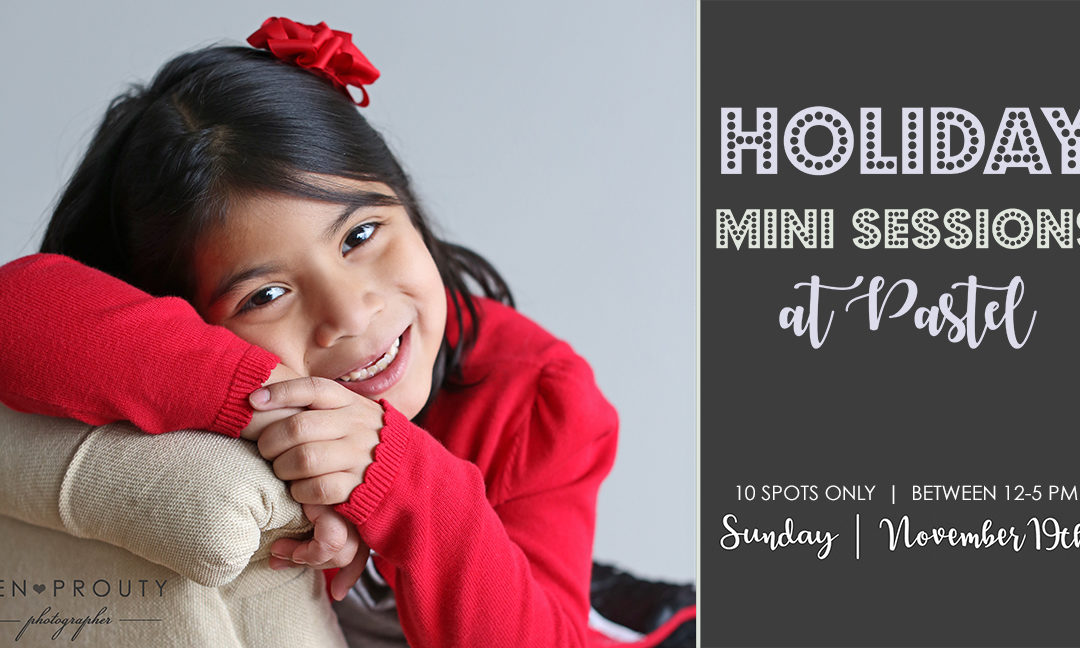 Holiday Photo Mini Sessions and Book Drive